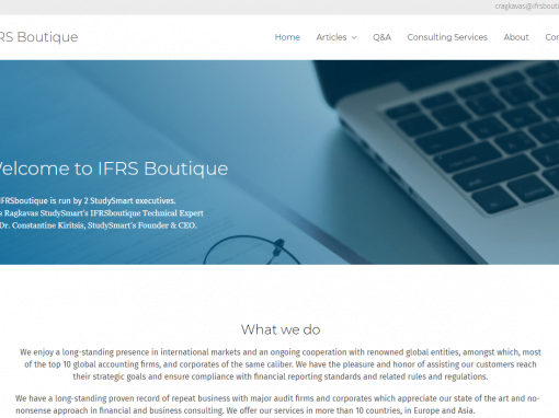 IFRS Boutique Corporate Website